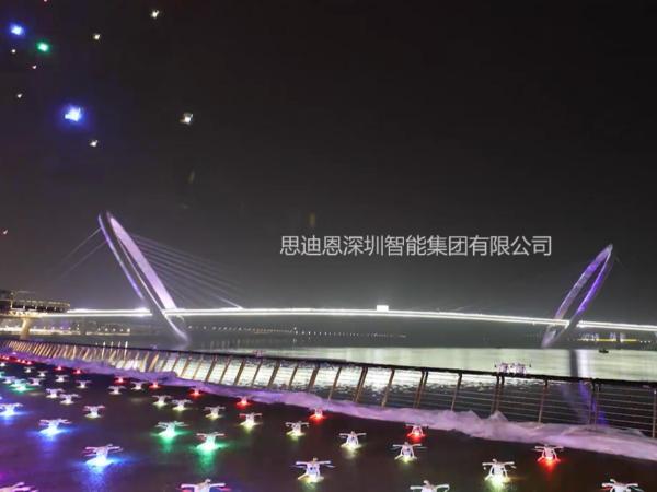 无人机灯光秀领爆城市亮化夜游经济