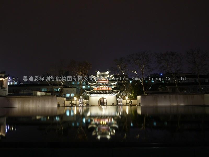 夜游亮化工程商思迪恩明晰城市照明框架构筑
