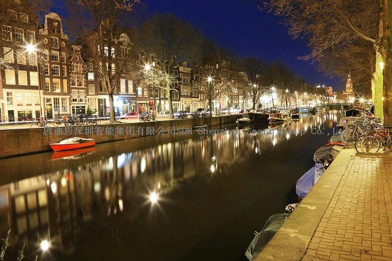 夜游亮化工程商思迪恩明晰城市照明框架构筑道路体系