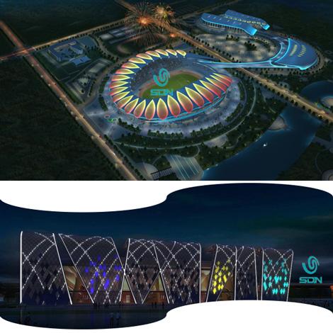 解析部分体育中芯灯光设计和亮化照明工程-10