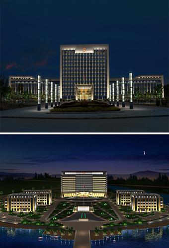 揭密一些政务楼体照明设计与亮化工程-2
