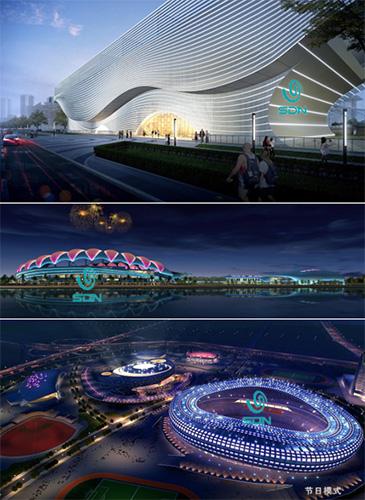 解析部分体育中芯灯光设计和亮化照明工程-2