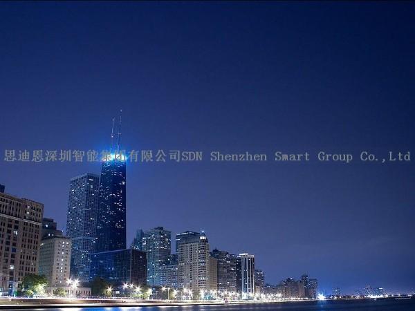 商业圈夜游亮化思迪恩简述绿地公园景观照明设计的基本要求