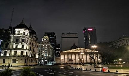 阿根廷首都五月广场城市夜景与楼体亮化赏析-3