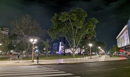 阿根廷首都五月广场城市夜景与楼体亮化赏析-4