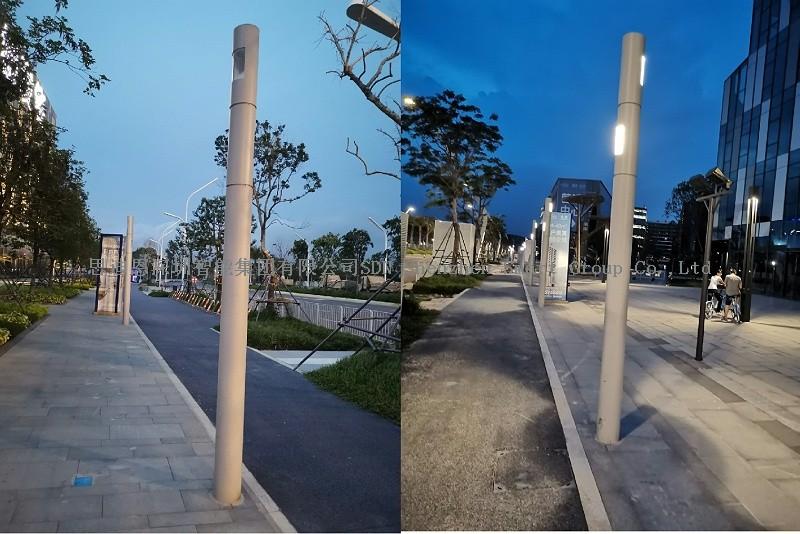 深圳宝安新会展中心附近出新造型智慧路灯了-02