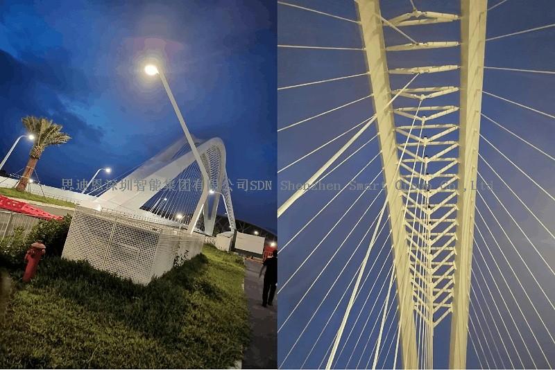 深圳宝安新会展中心附近出新造型智慧路灯了-03