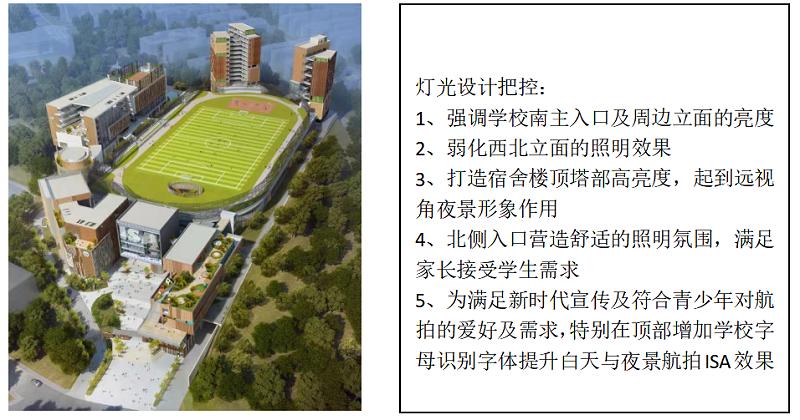 广州爱莎国际学校景观照明与楼体亮化设计概念方案领秀(一)-4