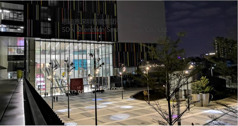恭贺深圳艺术小镇泛光照明及亮化设计工程局部亮灯-1