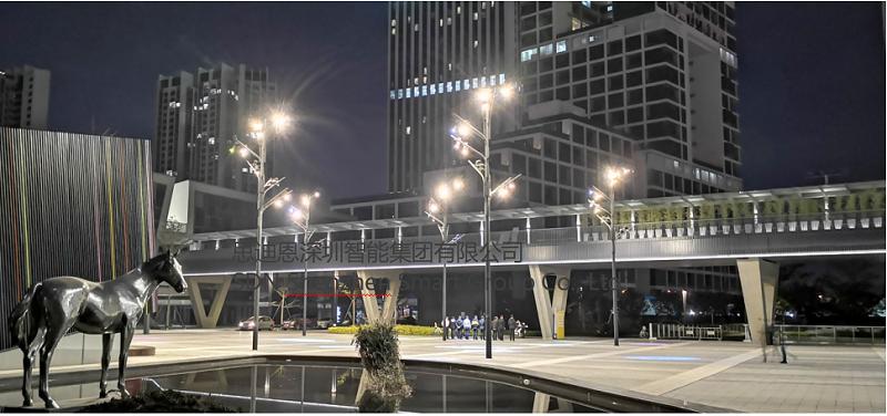 恭贺深圳艺术小镇泛光照明及亮化设计工程局部亮灯-2