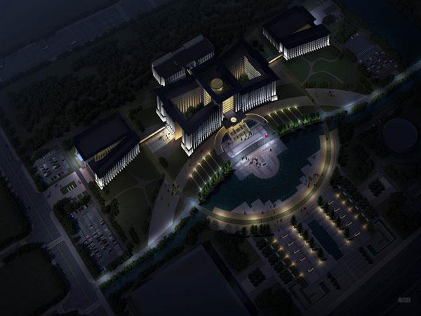 揭密一些政务楼体照明设计与亮化工程