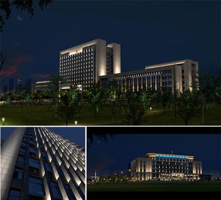 揭密一些政务楼体照明设计与亮化工程-4