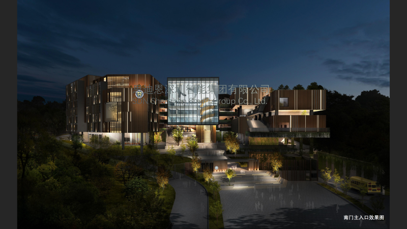 广州爱莎国际学校景观照明与楼体亮化设计概念方案领秀(二)-1
