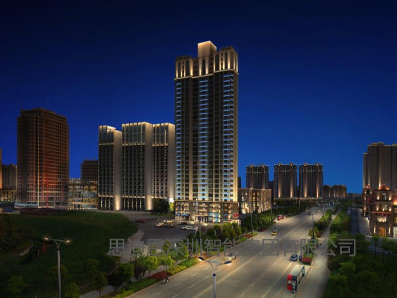 思迪恩泛光照明,建筑物和楼体的一般照明方式