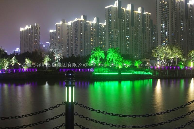 商业圈夜游亮化-思迪恩简述绿地公园景观照明设计的基本要求(续)