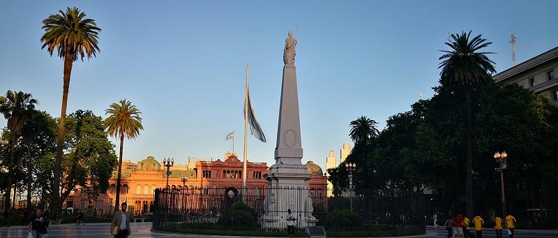 阿根廷首都五月广场城市夜景与楼体亮化赏析-5
