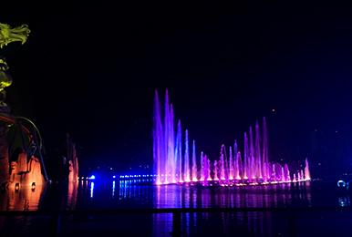 水系山体照明亮化