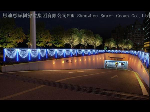 山水夜游亮化工程-思迪恩简述体育馆-游泳馆的场地照明配电与控制