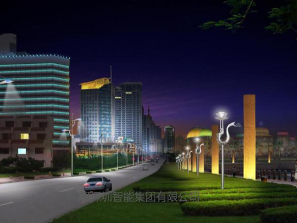 景观照明设计之人行道的夜景观规划设计
