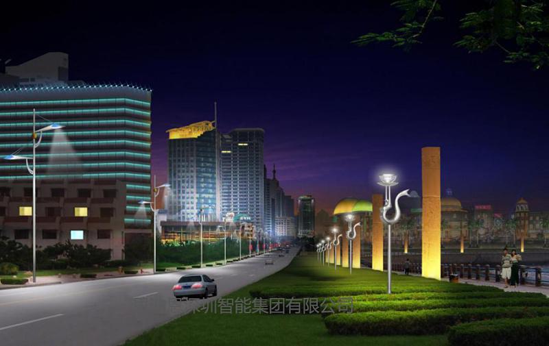 景观照明设计之人行道的夜景观规划设计-1