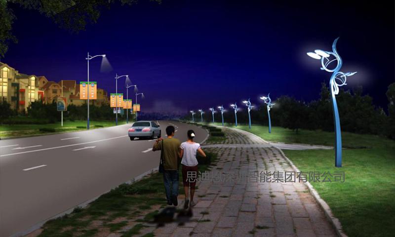景观照明设计之人行道的夜景观规划设计-2