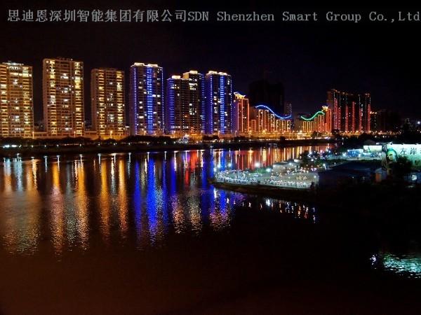 古镇夜游亮化商思迪恩简述水系景观照明设计之照明方式